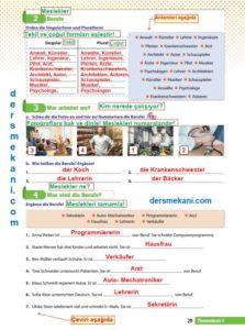 9.Sınıf Almanca Çalışma Kitabı Cevapları