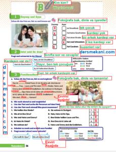 9.Sınıf Almanca Ders Kitabı Cevapları